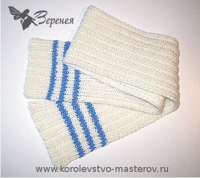 связать крючком шарф снуд простой.