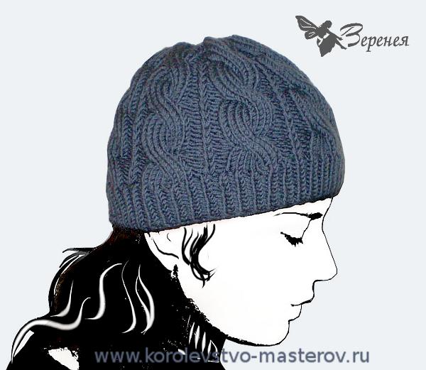 Женская шапка с аранами.