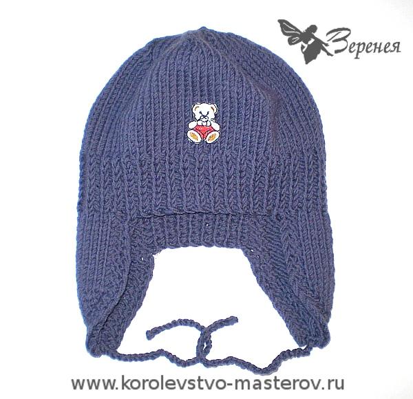 Детская шапка ушанка спицами osinka. вязание спицами эксклюзивных.