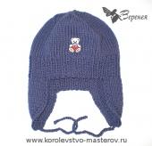 Зимняя детская шапка-ушанка