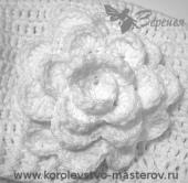 Цветок, связанный крючком