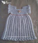 Крестильное платье крючком для девочки со схемами.