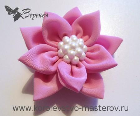 Как сделать цветы из шёлка своими руками