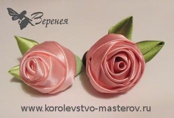 Как своими руками сделать розу из атласной