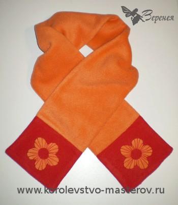 5 простых самодельных шарфов из флиса 52