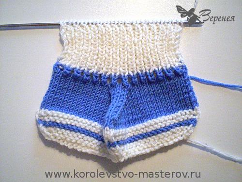 Вязание спицами пинетки 2 спицами