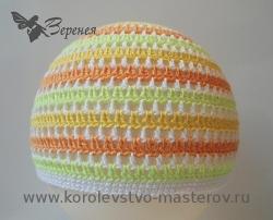 Летняя детская шапка крючком схема фото 548