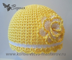 схемы вязаных шапочек для девочек