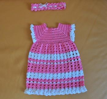 вязание детских платьев крючком схемы