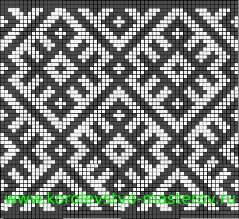 Схема для вязания спицами: