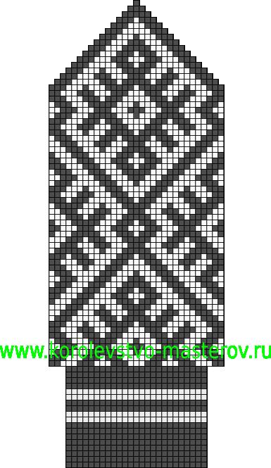Прочитать целикомВ.  Северные узоры для вязания варежек спицами.