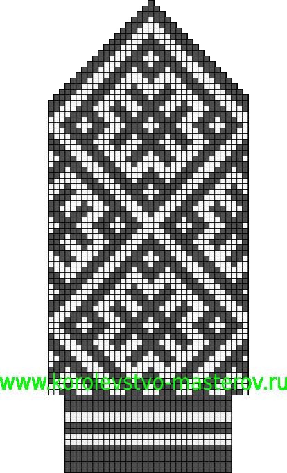 с орнаментом по мотивам Северных узоров. и схемы для вязания шапок,шарфов,повязок.  Северные узоры для вязания...