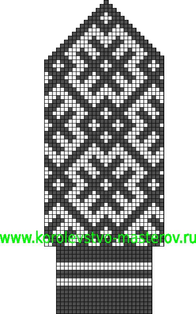 В статье...  Северное узорное вязание.  Северными узорами вязались не только варежки, но и чулки (носки).