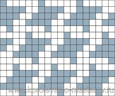 """Схема для вязания жаккардового узора  """"куринные лапки """" 3 (спицами) ."""