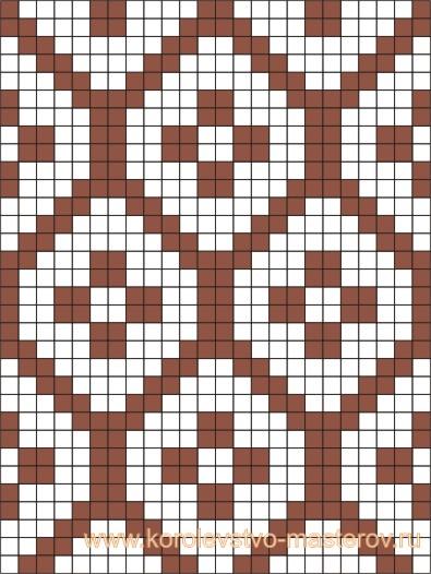 Схема для вязания жаккардового