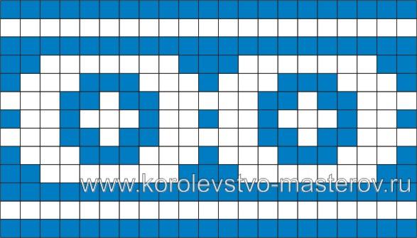 Схема для вязания жаккардового узора 79 (спицами) .