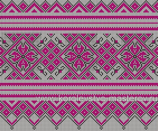 Схема вышивки рушника