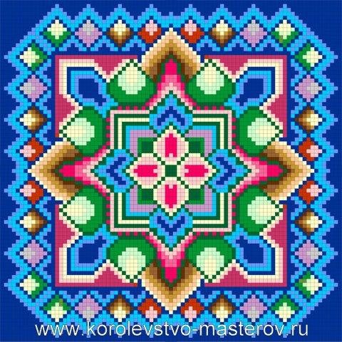 Схема вышивки подушки крестом.