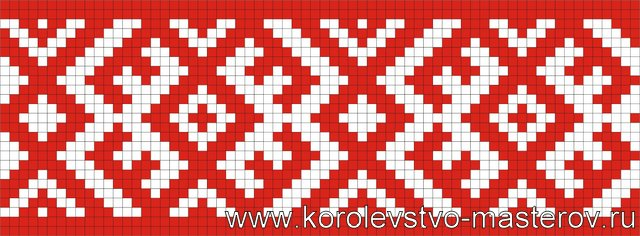 Вышивка крестом орнаментов для рушника