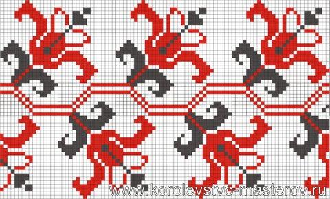 Орнаменты вышивки