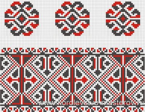 Орнамент вышивки Черкасской