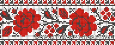 Орнаменты украинской вышивки схемы