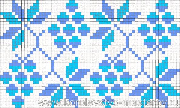 Схема вышивки крестиком №11