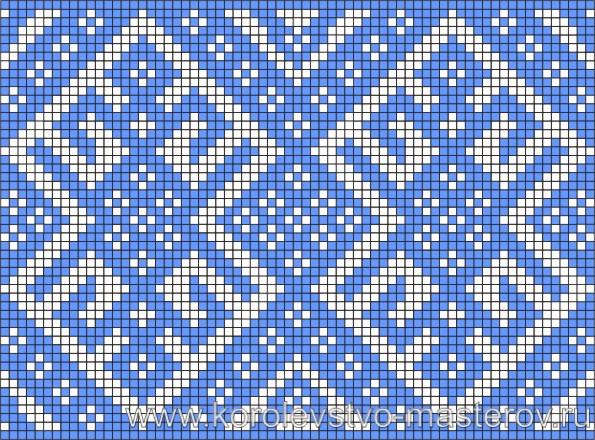 Схема вышивки крестиком №12