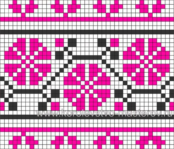 Схема вышивки крестиком №16