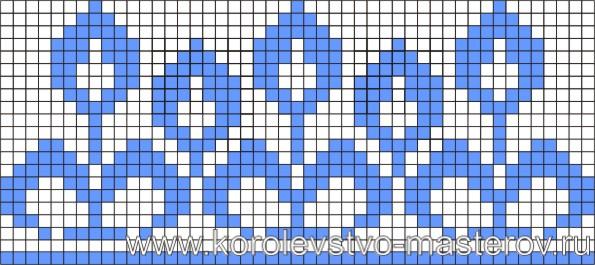 Схема вышивки крестом №6