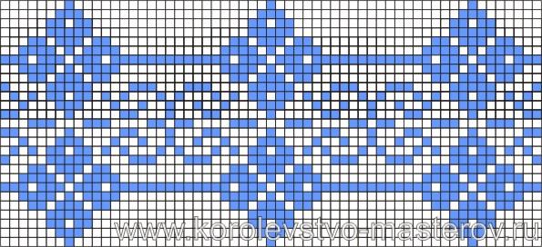 Схема вышивки крестиком №7